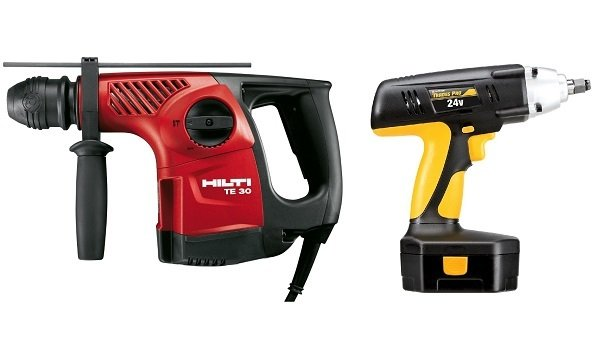 Impact Drill And A Hammer Drill